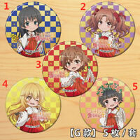 "Anime To Aru Kagaku no Railgun badges Pins Schoolbag 5.8CM(2.3"") cosplay"