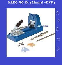 KREG K4 Pocket Hole Jig System Woodworking Kit / Manual +DVD Home Improve