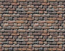 ! 9 SHEETS EMBOSSED BUMPY BRICK stone wall 21x29cm G SCALE 1/24 CODE 4010K7