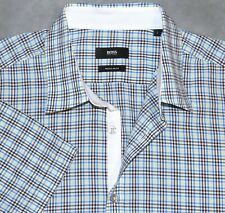 02a078cf HUGO BOSS Plaids & Checks Short Sleeve Casual Shirts for Men for ...