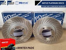 FOR PORSCHE 911 996 FRONT MEYLE DRILLED BRAKE DISCS DISCS MINTEX BRAKE PAD PADS