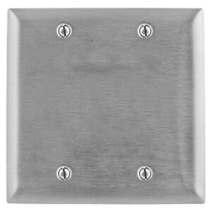 Hubbell SS23 Blank Wall Plate, 2-Gang