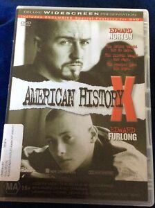American History X - Region 4 DVD - Great Condition - Edward Norton - FREE POST