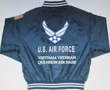 QUI NHON AIR BASE*VIETNAM VETERAN *AIR FORCE EMBROIDERED 2-SIDED SATIN JACKET