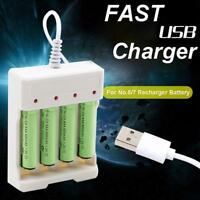 AA/AAA Universal Rechargeable Battery USB 4 Slots Intelligent Battery Charger