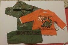 Jacket Shirt Pants Set 3-6 Months Baby Boy Dinosaur Robar Inc. Networks NWT