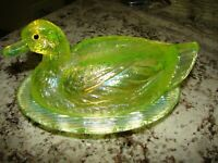 Westmoreland Old Antique DUCK ON NEST Clear Glass COVERED CANDY DISH ~ EXTRAS~