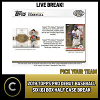 2019 TOPPS PRO DEBUT BASEBALL 6 BOX (HALF CASE) BREAK #A343 - PICK YOUR TEAM