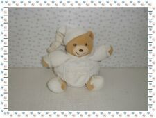ꕤ - Doudou Ours Boule Blanc Beige Broderies   Kaloo