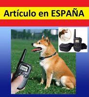 Collar ADIESTRAMIENTO perros aprendizaje antiladridos descarga SONIDO vibracion