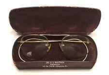 Vintage 1/10 12K Gf Half Rimless Eyeglasses w Original Case Allentown, Pa