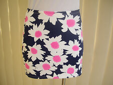 ICE SKIRT S NWT MICRO MINI MULTI COLOURED FLORAL DAISY PATTERN CASUAL STRETCH