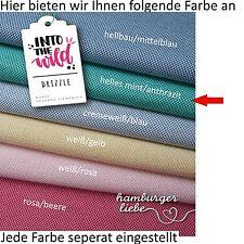 Hamburger Liebe Drizzle helles mint anthrazit; Bio Jacquard Jersey Strickstoff