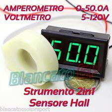 2IN1 AMPEROMETRO ± 50A DC CON SENSORE HALL VOLTMETRO 5V - 120V ammeter voltmeter