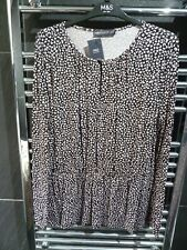 M&S Size 14  Ladies Animal Print Long Sleeve Tunic Blouse BNWT MARKS AND SPENCER