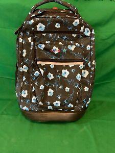 "J World New York Sundance Laptop Rolling Backpack, Night Bloom, 19"" 9"