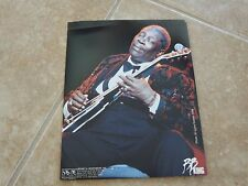 BB King Blues Guitar Live 8x10 1998 OFFICIAL Concert Merch Booth Photo #1 READ