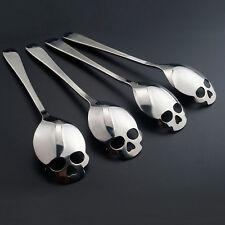 8x Kaffeelöffel Tee Löffel Kuchen mit Totenkopf Skull Schädel Edelstahl Geschenk