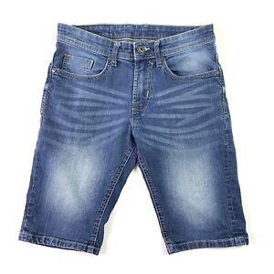Buffalo David Bitton Mens Jean Shorts Blue Denim Size 30 Inseam 11 Inches
