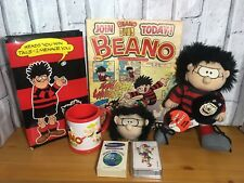 Vintage Beano / Beano Club Dennis Menace Bundle Cards Clock Plush Comic Mug