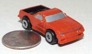 Small  Micro Machine Plastic Chevy El Camino Pickup truck in Burn Orange
