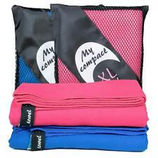 cosey – 2x Mikrofaser Reise-/Sporthandtuch Badetuch pink blau – Trekking Camping