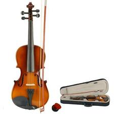 More details for new 3/4 size acoustic violin with case bow rosin bridge for 9-11 years students