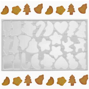 Christmas 25 Shape Cookie Cutter Star Tree Bell Biscuit Reindeer Heart Bake Mold
