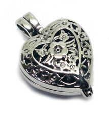 """""""Always in My Heart"""" Locket Necklace Ash Urn Cremation Jewelry Pendant S55 Mom"""