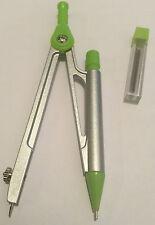 Matita MECCANICA BUSSOLA 0.5 mm in metallo e plastica verde con extra porta