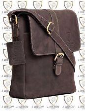 Mens Leather Shoulder Bag Designer Ladies Cross body Work Messenger Travel Case
