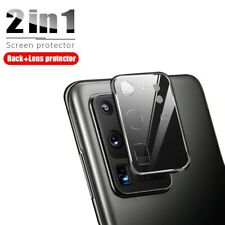 2in1 Full Cover Camera Lens Protective Metal Case for Samsung Galaxy S20