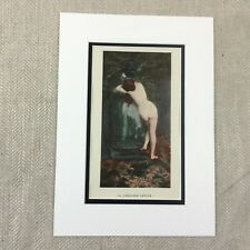 1898 Antique Print Nude Girl Portrait Gabriel Guay Painting French Art