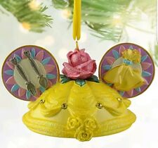 New Disney Parks Belle Beauty and the Beast Ear Hat Ornament Princess Christmas