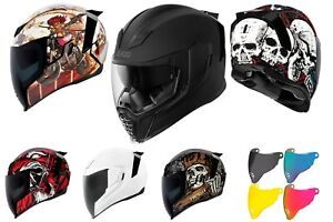 Icon Airflite Motorcycle Helmet Extreme Unique USA Look Optional Accessories