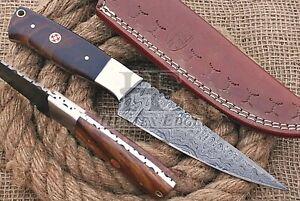 HUNTEX Custom Handmade Damascus Steel 230mm Long Walnutwood Hunting Campin Knife