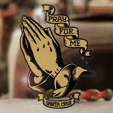"""Santa Cruz Praying Hands sticker decal genuine surfing surf lowrider gold 3.75"""""""