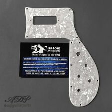 PICKGUARD pour RICKENBACKER BASS 4003 2pc WHITE PEARLOID 3ply USA WD RBT-5128