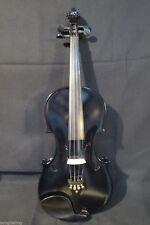 Nice Black colors electric & acoustic violin 4/4 #8567