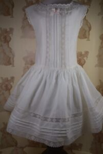 """Antique-style Ivory Petticoat Set for 28""""(71cm) Antique or Reproduction Doll"""