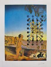 "1976 Vintage SALVADOR DALI /""PHILOSOPHER ILLUMINATED MOON /& SUN/"" COLOR Lithograph"