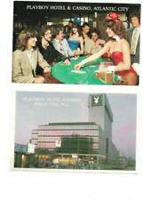 Postcard Lot of 2 Unused Pc From Playboy Hotel & Casino, Atlantic City Nj