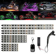 12bluetooth Motorcycle Led Light Rgb 15 Colors Neon Under Glow Lights Strip Kit