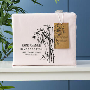 500 TC Bamboo Cotton Park Avenue Sheet Set Peach