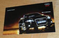 Audi RS4 Cabriolet Brochure 2006-2007