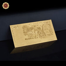 WR 2002 Australian $50 Fifty Dollar Notes Gold Plated Banknote Cards Collection