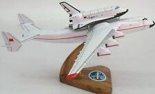 Antonov AN-225 Space Shuttle Buran Airplane Wood Model Small Free Shipping