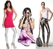 Celebrity Style Plata Brillante Leggins ido Talla S (UK6-8)