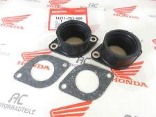 Honda CB 450 K Insulator + Gasket Set Carburetor Genuine New Ansaugstutzen Set