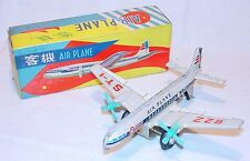 MF-107 China PASSENGER PLANE AIRLINER Friction Tin Toy Airplane MIB`68 RARE!